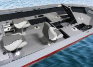 ProFish raised bow platform, lockable rod storage, casting platform, permanent helm seat box 25 USG under floor fuel tank and more!