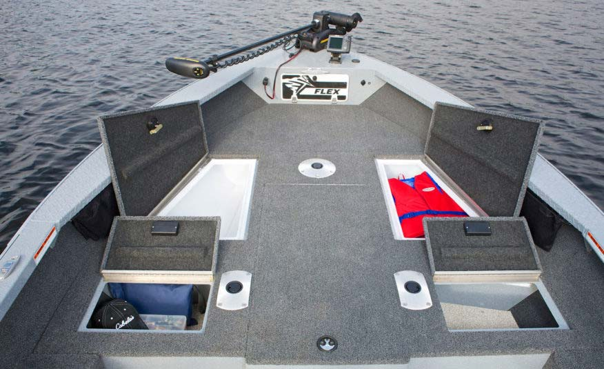 Huge storage capacity for everything you and your guests need for a full day of serious fishing