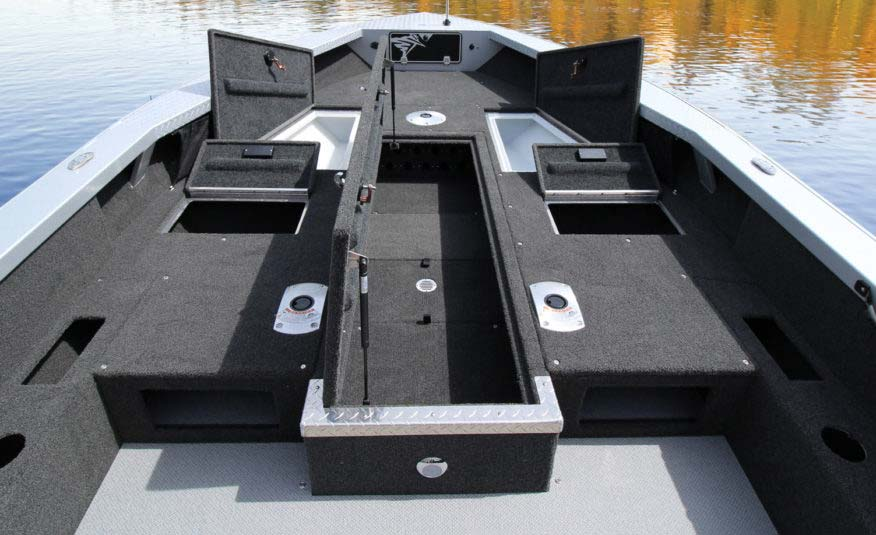 The XP (extended platform) expands your casting deck, and your possibilities. Huge storage capacity holding everything you and your guests need for a full day of serious fishing.