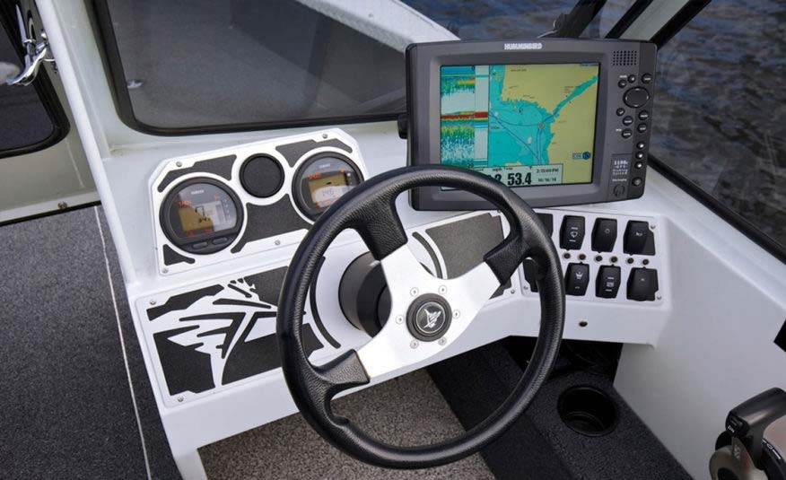 Take control with the sleek billet finished dash and plenty of room for electronics
