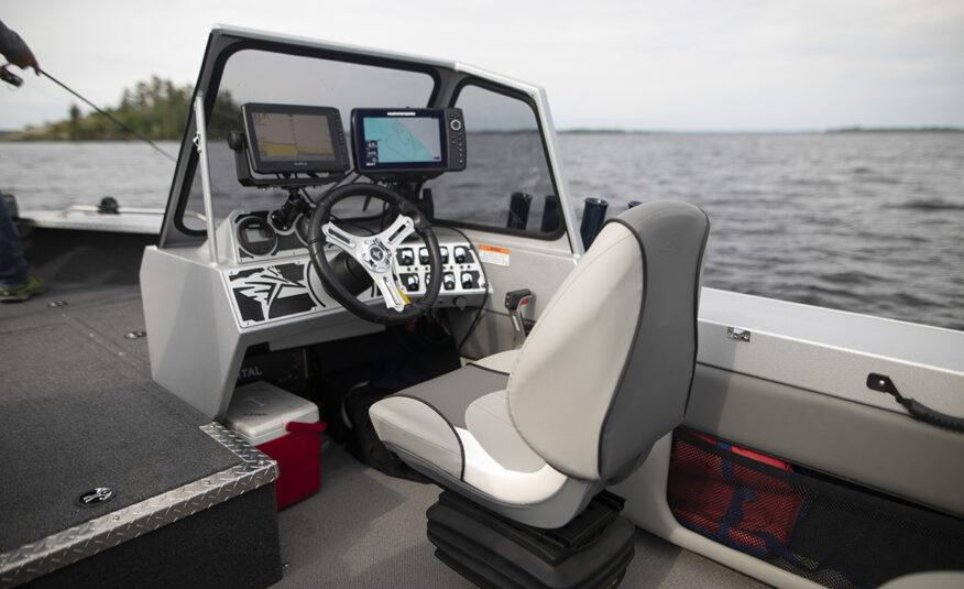 Well appointed stylish helm with Pro Angler suspension seat upgrade