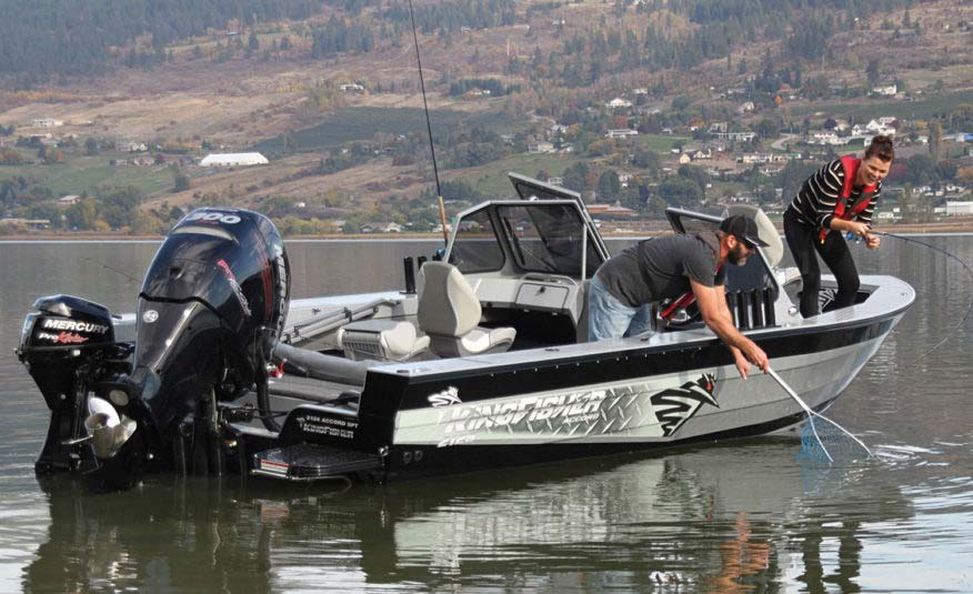 Our tough welded aluminum hull lets you get to the hard to reach fishing spots with confidence and style