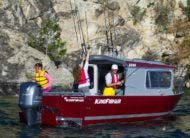 The 8' beam makes this compact pilot house design deliver excitement anywhere there's water