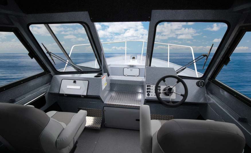An ergonomic cabin layout that keeps you comfortable all day long and a driving experience designed to make your big water journey feel like a day on a pond