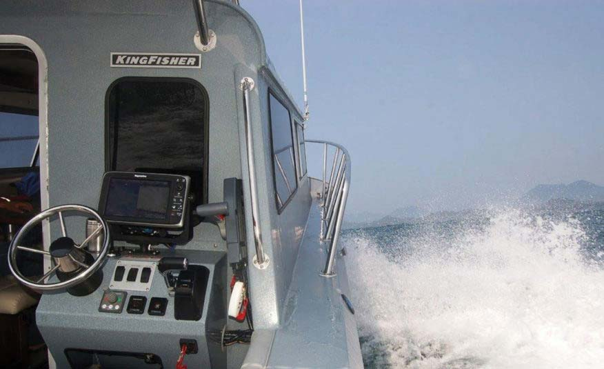 Navigate with confidence from the rear helm
