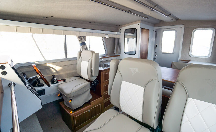 "Premium Oceanmaster seats with suspension upgrade with 6'10"" cabin height"