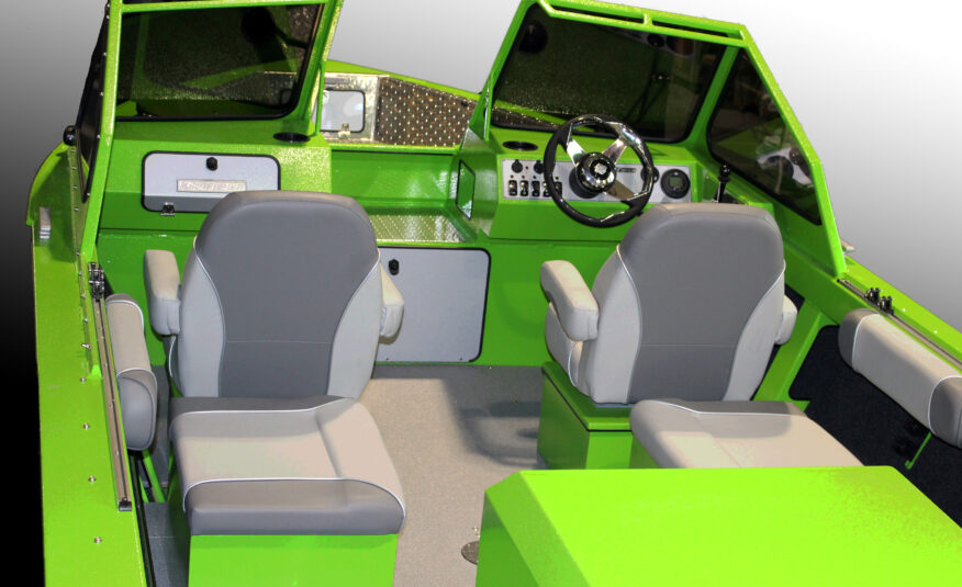 Spacious cockpit and your choice of seat options