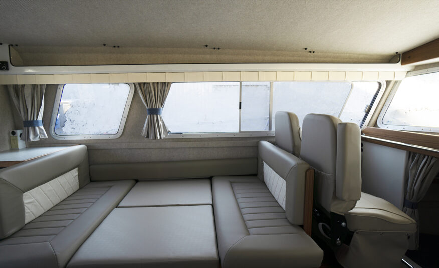 Dinette seating for six converts to a queen sleeping berth