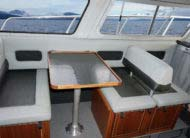 Entertain friends with dinette seating and galley that includes sink and 40G freshwater tank