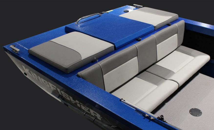 Available full width rear bench seat and motor deck cushions for the best in river cruising